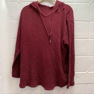 J Jill Pure Jill texture pullover hoodie top tunic